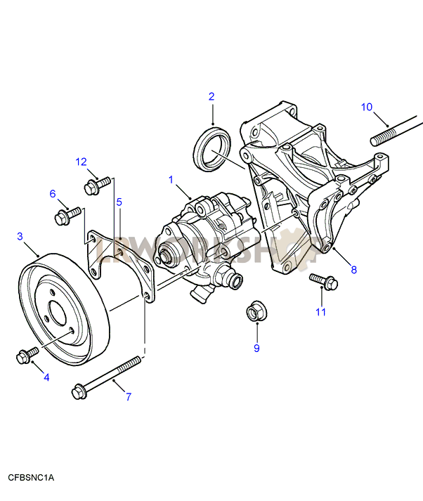 Power Steering Pump Td5 Find Land Rover Parts At Lr
