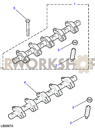 Rocker Shaft - Fuel Injectors - Td5 - Find Land Rover parts at LR