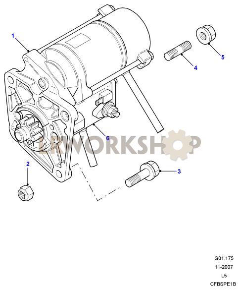 starter motor - td5