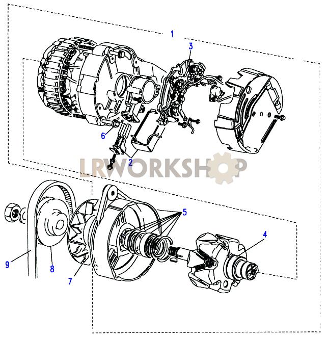 Alternator Part Diagram