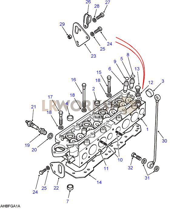 Cylinder Head - 2 5 Petrol