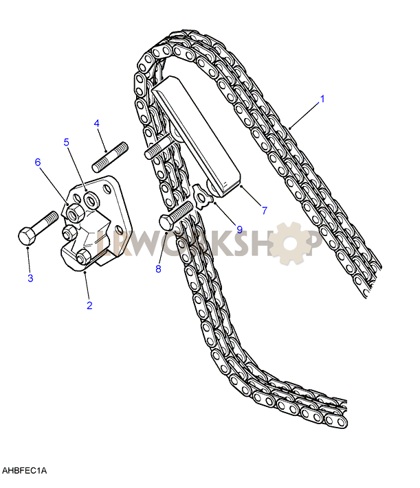 timing chain  u0026 tensioner - 2 5 petrol