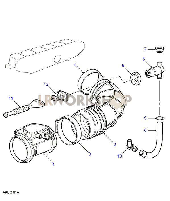 Air Volume Sensor - 2 8 Bmw M52