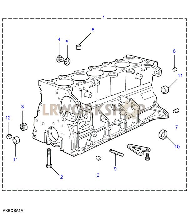 cylinder block - 2 8 bmw m52