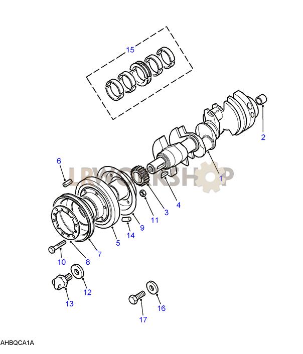 Crankshaft  U0026 Bearings - V8 3 5l Carburetter