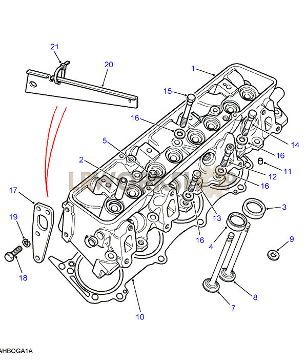 cylinder head v8 3 5l carburetter land rover workshop v8 cylinder head diagram cylinder head part diagram