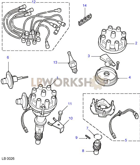 distributor-su - v8 3 5l carburetter