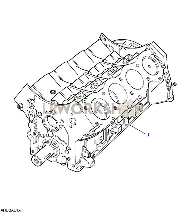 Engine Short - V8 3 5l Carburetter
