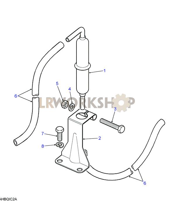 fuel trap-detoxed - v8 3 5l carburetter