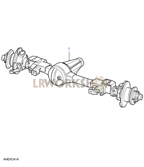 front axle assembly - 130