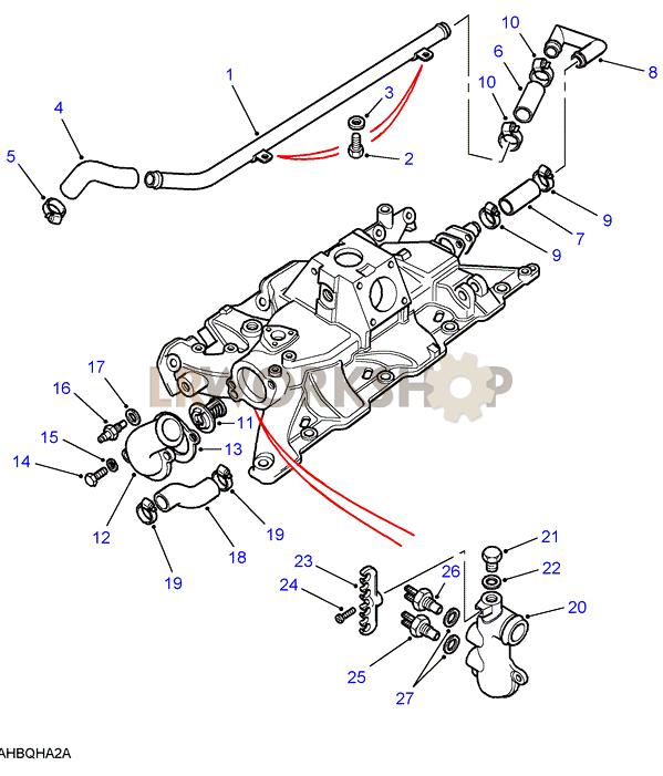 inlet manifold - components - v8 3 5l carburetter
