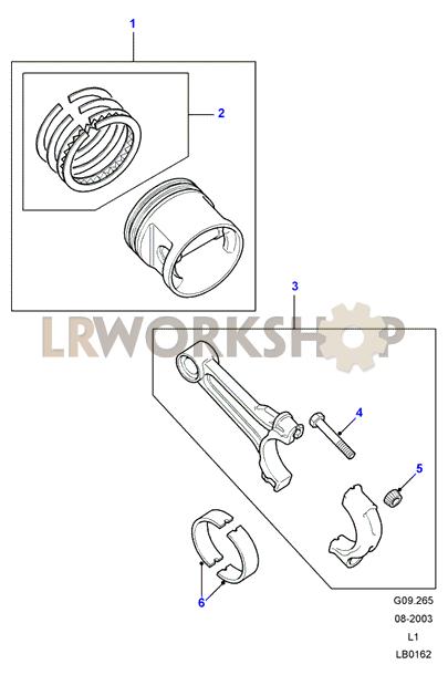 Piston  Connecting Rod  U0026 Bearings