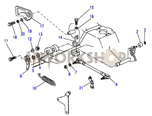 Throttle    LinkageStromberg  V8 35L Carburetter  Find Land Rover parts at LR Workshop