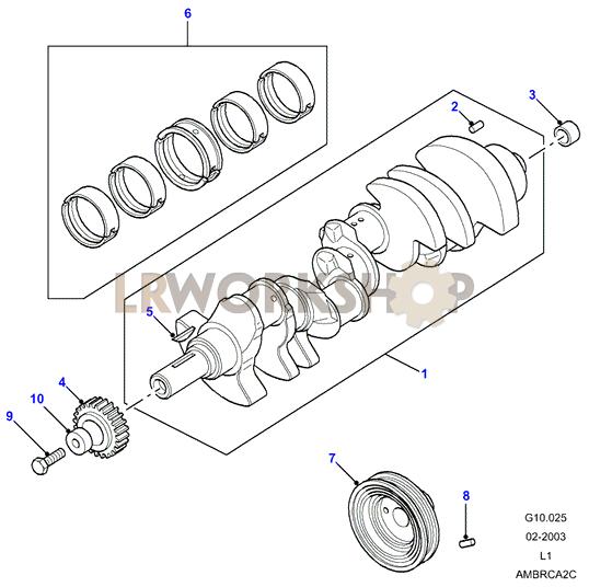 Crankshaft  U0026 Bearings - V8 3 9  4 0l Efi