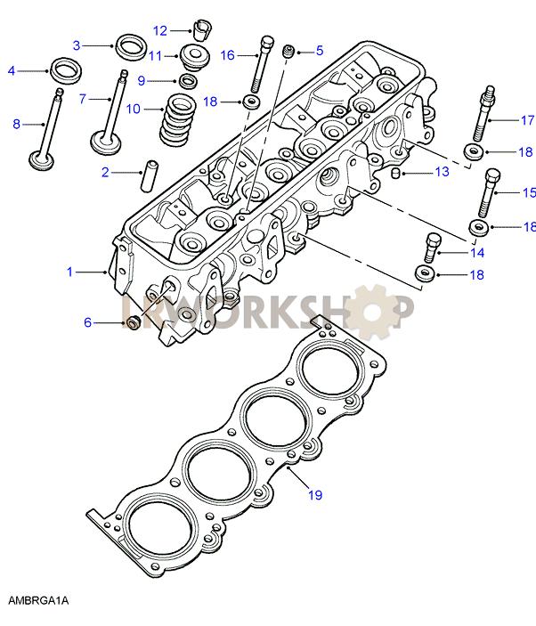 cylinder head - v8 3 9  4 0l efi