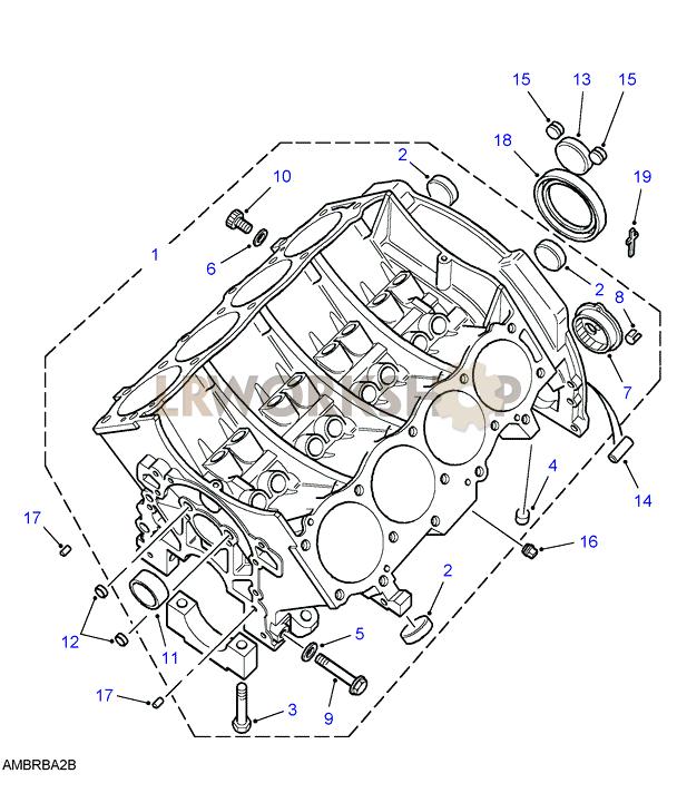 Cylinder Block - V8 3 9  4 0l Efi