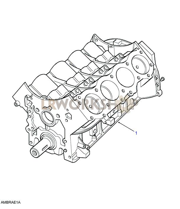 Engine Short - V8 3 9  4 0l Efi
