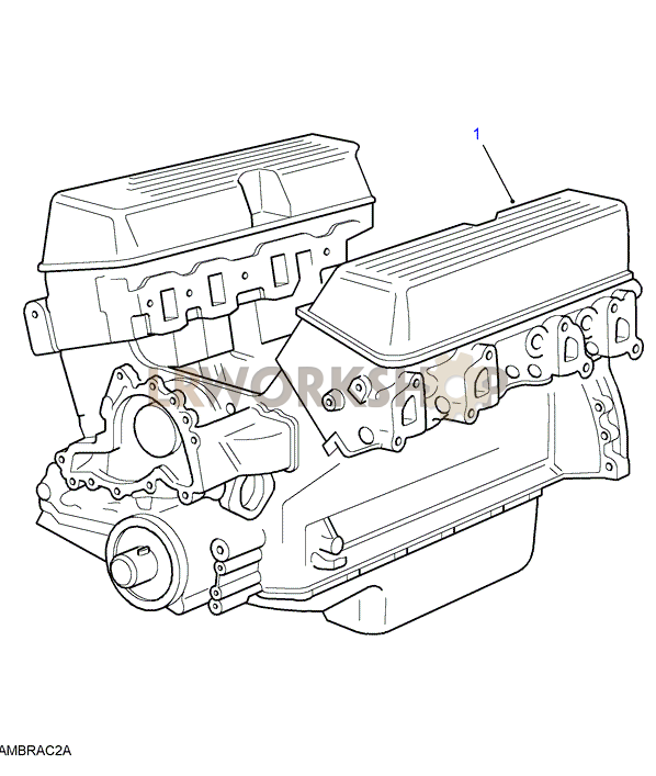 Engine Stripped - V8 3 9  4 0l Efi