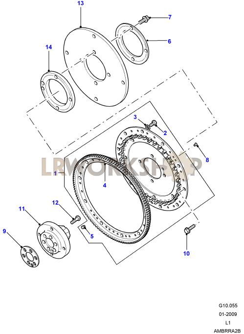 flywheel  u0026 clutch - v8 3 9  4 0l efi