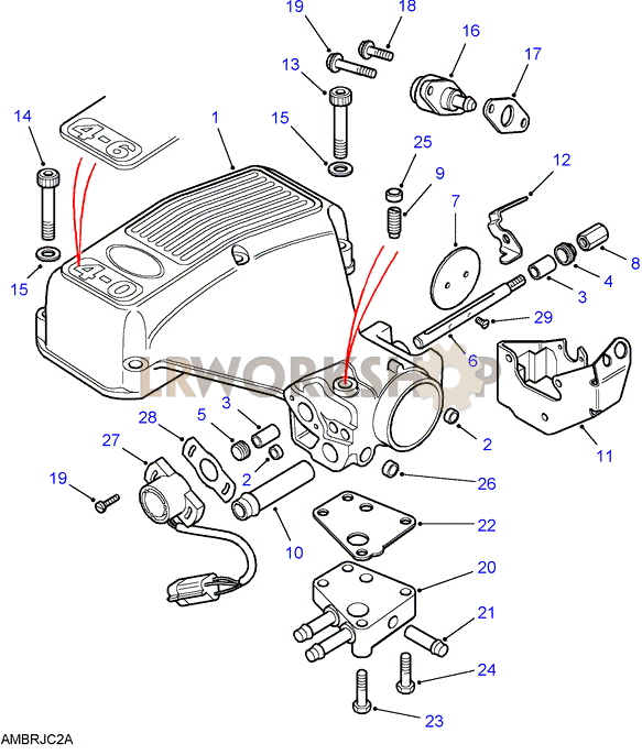 plenum chamber - v8 3.9/4.0l efi - find land rover parts ... 4 6 engine diagram land rover 4 6 engine diagram