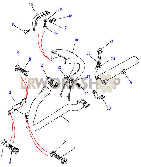 front exhaust pipe - 200tdi - land rover workshop front exhaust pipe diagram labeled