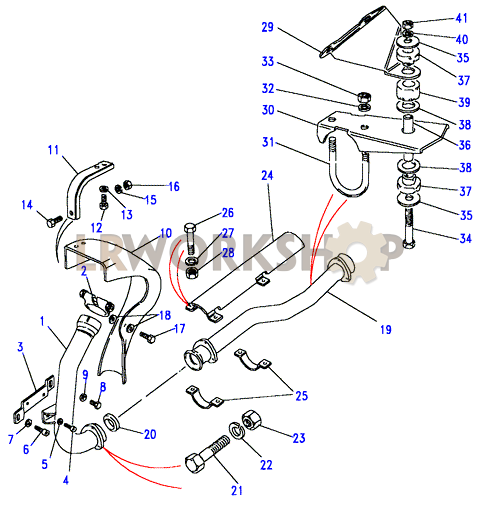 front exhaust pipe diagram labeled isometric pipe diagram front exhaust pipe - 2.5 td - land rover workshop