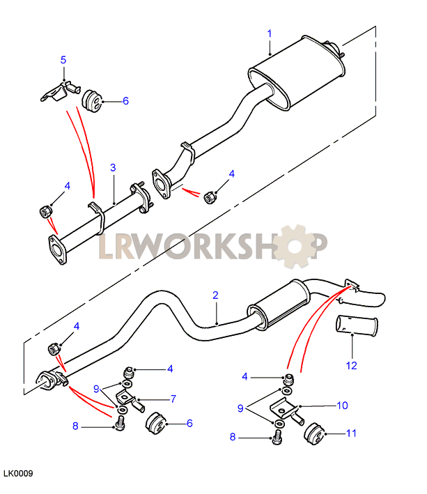 rear exhaust pipes - 300tdi - 110  130
