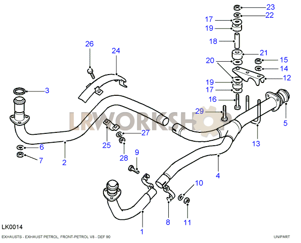 front exhaust pipe - v8 without catalytic convertor - land ... tig welding pipe diagram