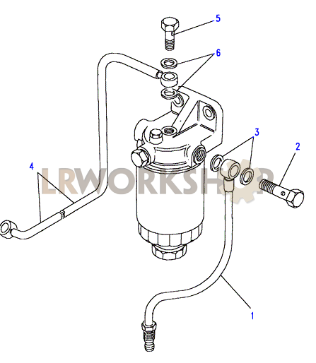 fuel filter pipes 200tdi land rover workshop rh landroverworkshop com diagram of fuel filter on 2004 saturan vue diagram of fuel filter location