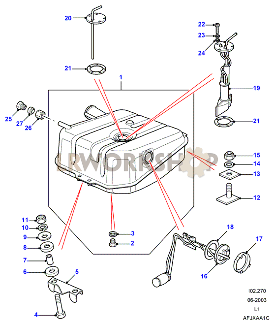 Fuel Tank Pump And Mountings - 110