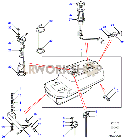 Fuel Tank Pump And Mountings on 2006 Range Rover Part Diagrams