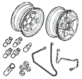 Axle Ancilliaries & Road Wheels Diagrams