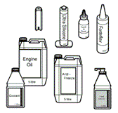 Oil, Sealants, Antifreeze & Hand Cleaners Diagrams