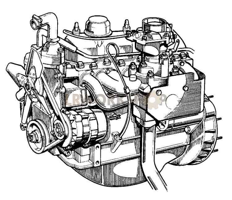 Complete Engine - 2 25 Litre Petrol