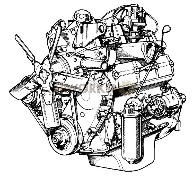 Complete Engine - 2 6 Litre Petrol