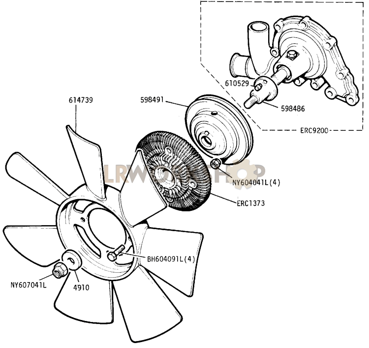 Water Pump And Viscous Fan