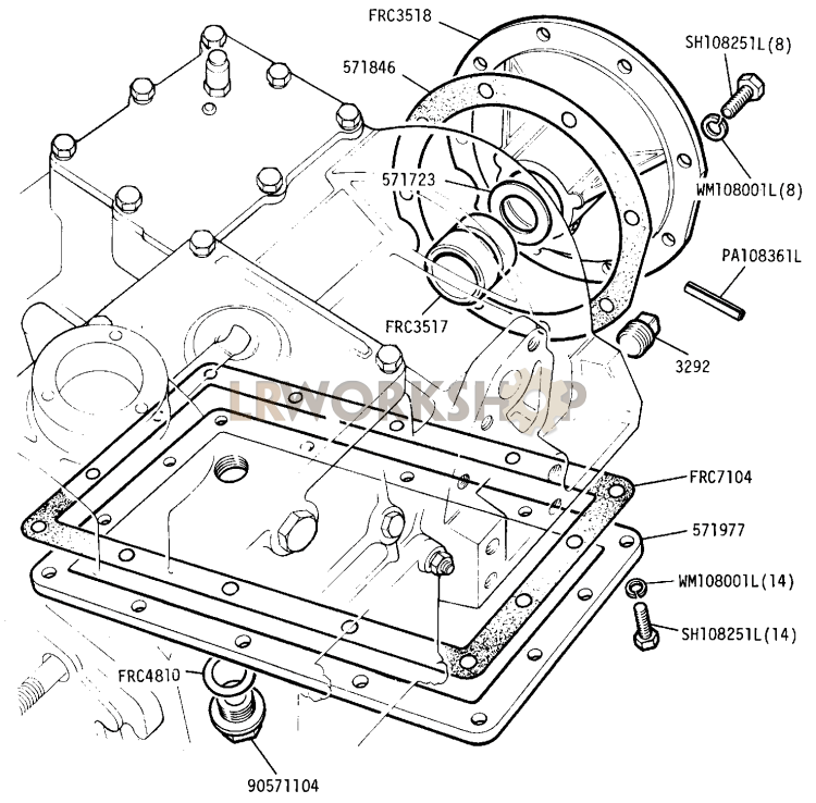 Main And Transfer Casing Rear Portion