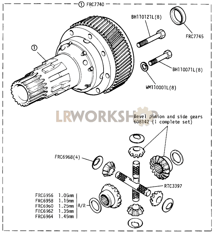 Differential Part Diagram: Land Rover County Air Conditioning Wiring Diagram At Nayabfun.com