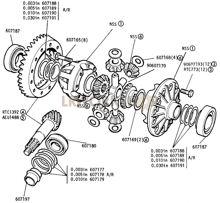 Differential  Rear Axle - 109in