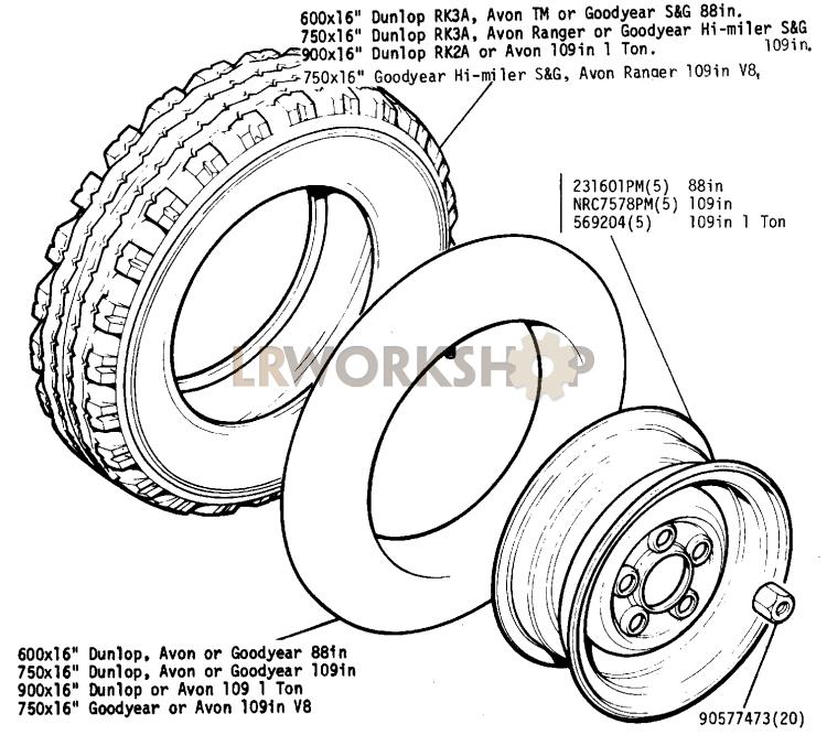 Wheels, Tyre and Inner Tube - Find Land Rover parts at LR WorkshopLR Workshop