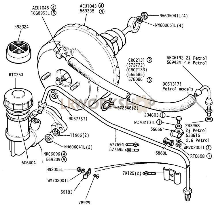 master cylinder and servo