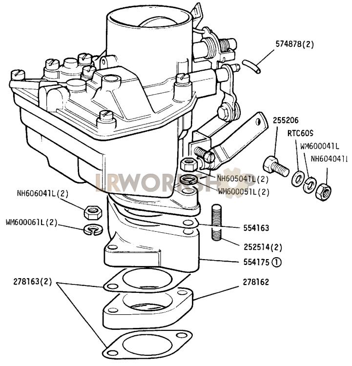 carburetter fixings - 2 25 litre petrol
