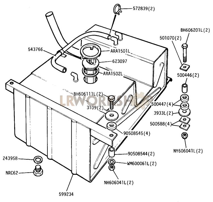 Fuel Tank - 109in V8