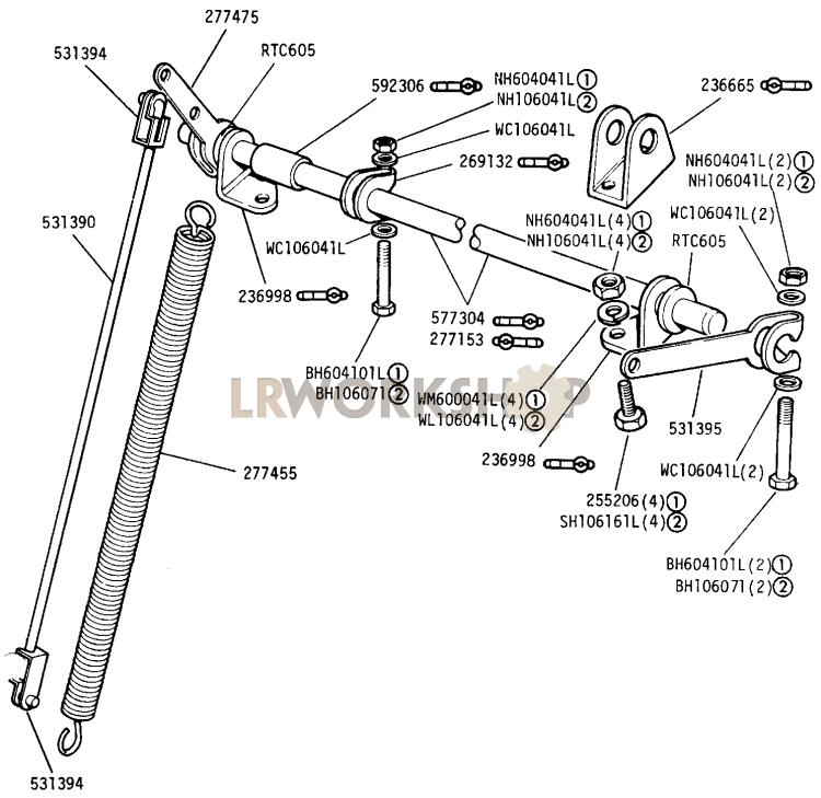 accelerator cross shaft - 2 25 litre petrol