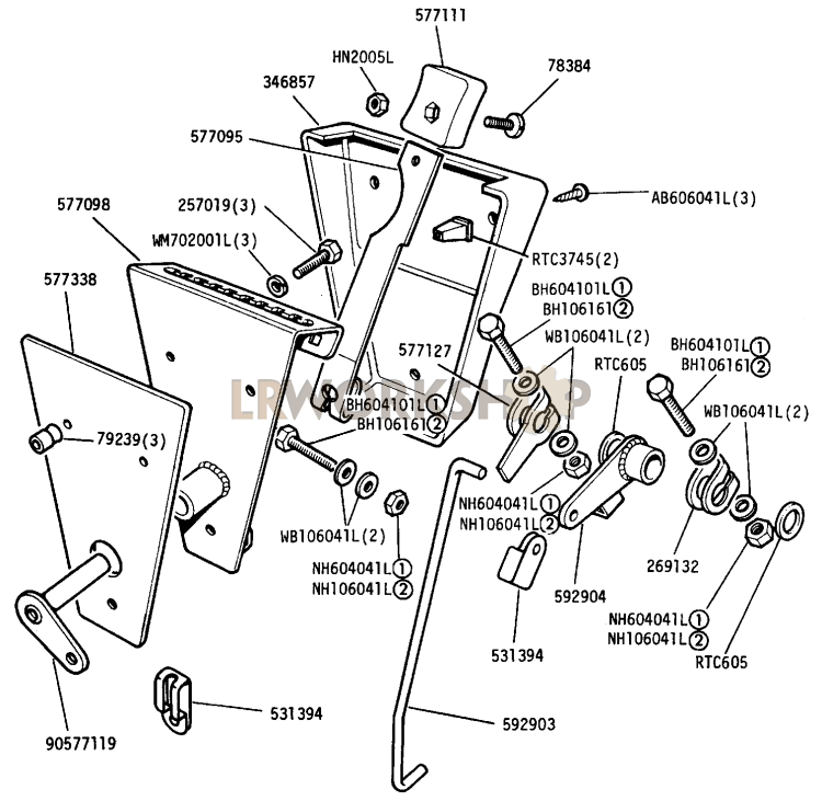 Engine Speed Hand Control - 2 25 Litre Diesel