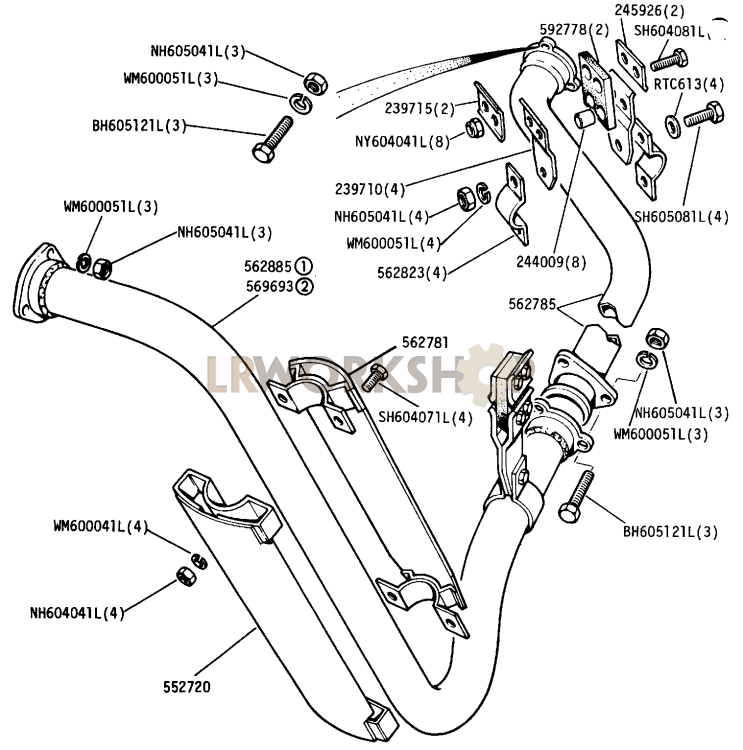Front And Intermediate Exhaust Pipe