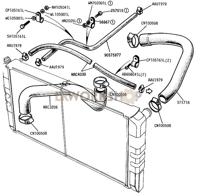Radiator Hoses - 109in V8