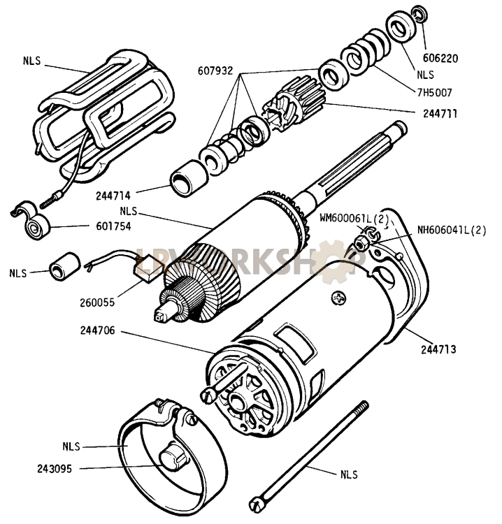 Starter Motor - 2 25 Litre Petrol - Type M418g