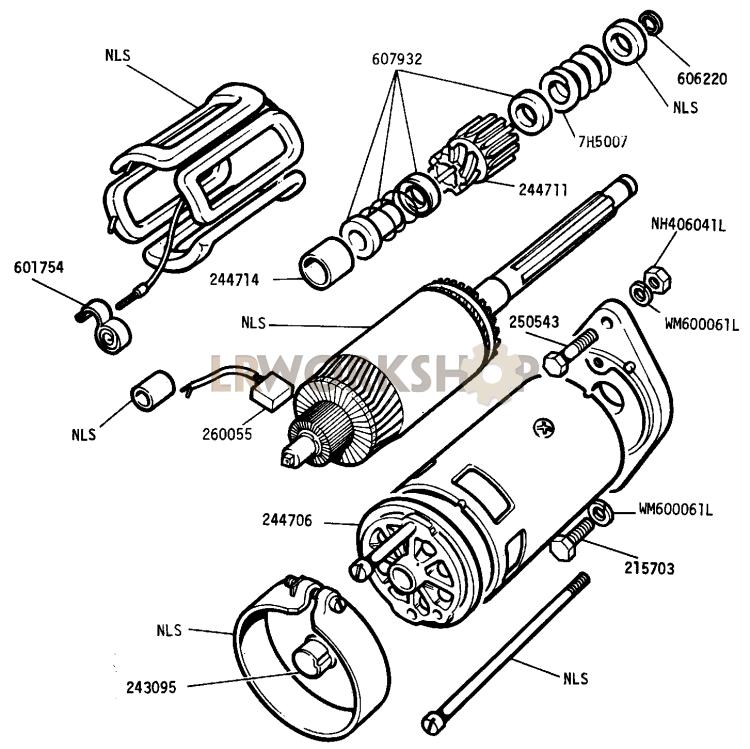 starter motor - 2 6 litre petrol - type m418g