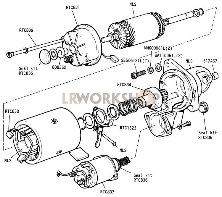 Starter Motor - 109in V8 - Type 3m100  Sealed